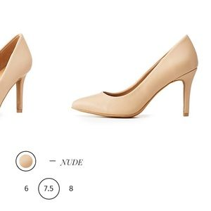 New Bamboo Faux Leather Pointed Toe Heels